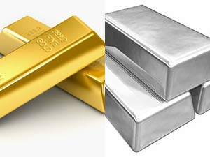 Silver, gold fall further on global cues