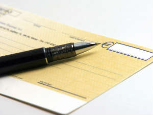 Cheque validity for 3 months to begin from April1, 2012