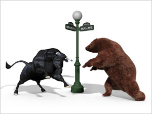 Markets close the day higher; banking stocks subdued