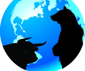 Bull and bear concept in stock market