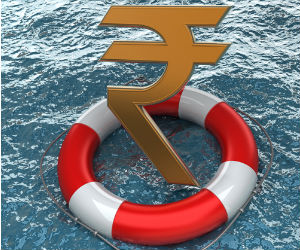 Rupee breaches 56 mark; drops 33 paise
