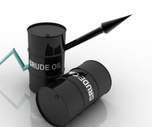 India crude up on rupee depreciation, global prices