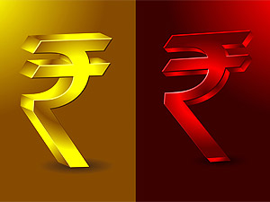 Rupee down 10 paise against dollar