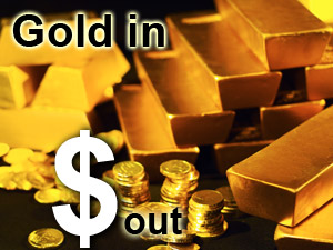 Gold gains on weak dollar, physical demand