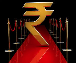 Rupee drops 8 paise; trades at 55.06 to the dollar