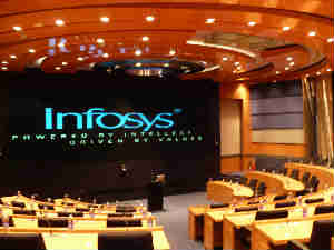 Infosys shares up on inclusion in NYSE Euronext