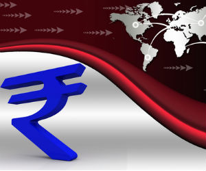 What is the fair value of the rupee against the dollar?