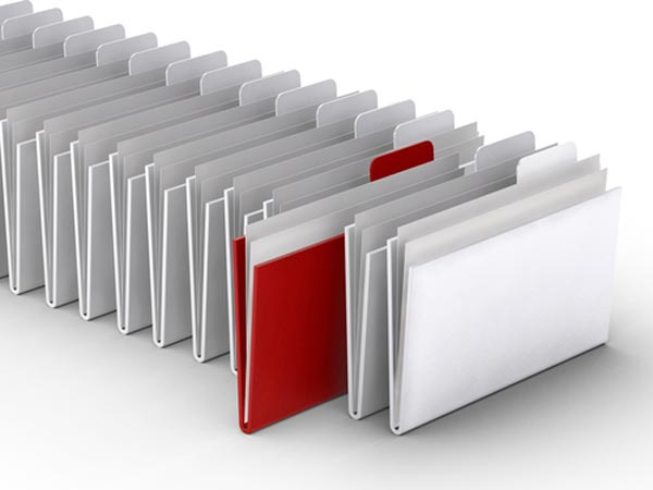 Store financial documents safely