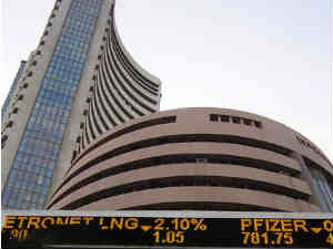 Sensex ends higher for the first time in 2014