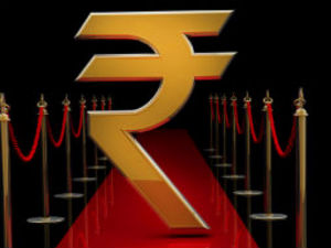 Rupee gains 20 paise on strong global cues