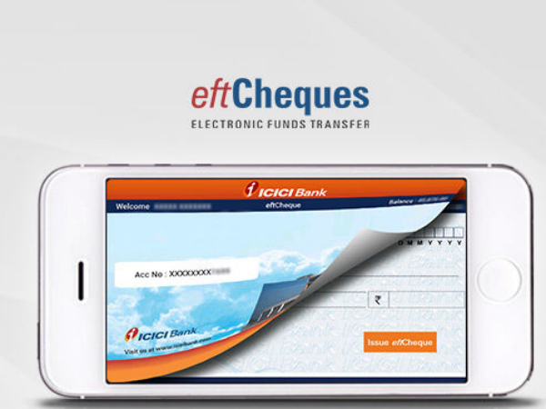 eftCheques: Now Deposit Cheque on your Mobile Using ICheque Mobile App