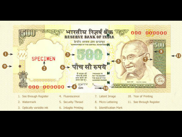11 Ways To Identify Fake Rs 500 Notes In India