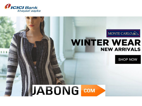Jabong Offers 2015: 'The Winter Is Coming' Top 5 Bank Coupons This Week