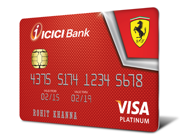 ICICI Bank Launches Ferrari Range Of Credit Cards