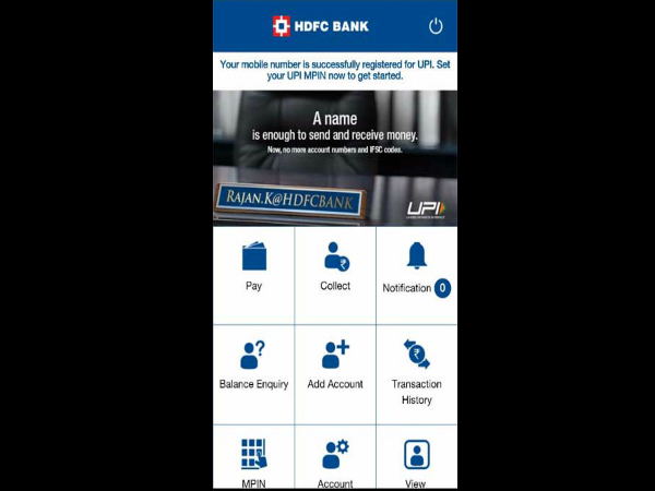 How Use Upi App Payment System Hdfc
