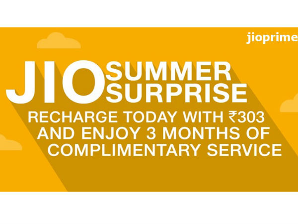 Jio Withdraws Summer Surprise Offer On TRAI Directive