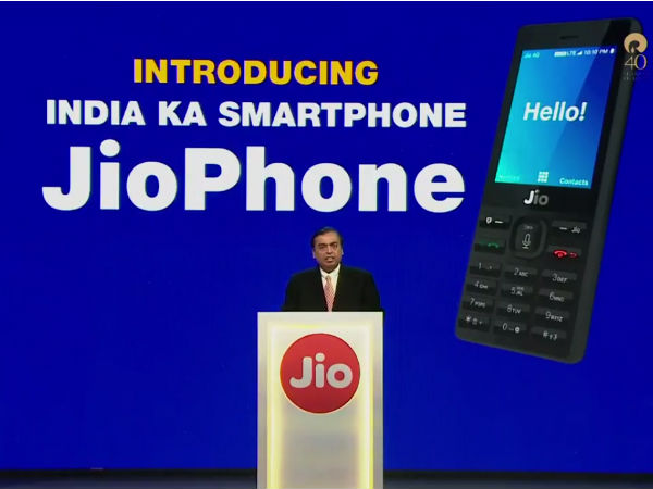Telecom Shares Fall After Launch of Reliance Jio Phone
