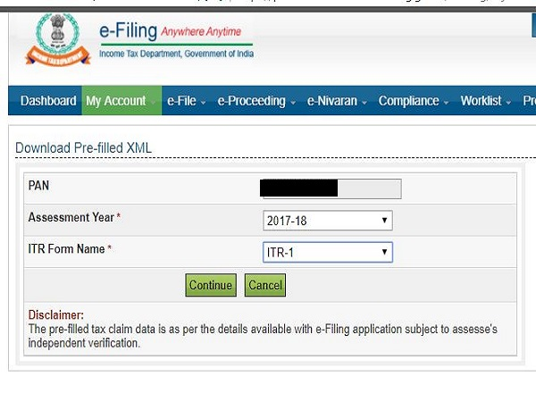 itr xml file free download