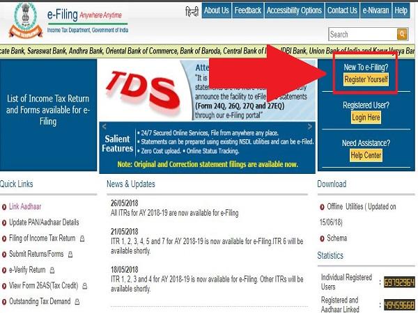 Step 1: Visit e-filing website