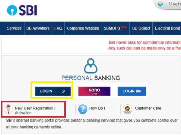 how to get otp in sbi