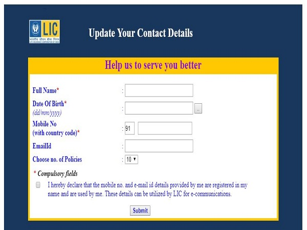 How To Update/Register Mobile Number And Email For LIC Policy Online?