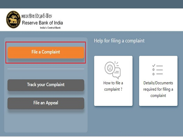How To File Your Complaints Against Banks, NBFCs With RBI Online?