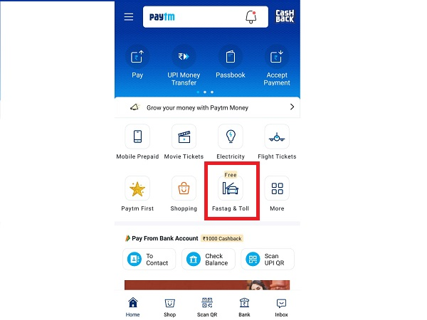 How To Buy And Recharge FASTag On Paytm?