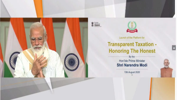 PM Modi Launches 'Transparent Taxation – Honoring the Honest' Platform