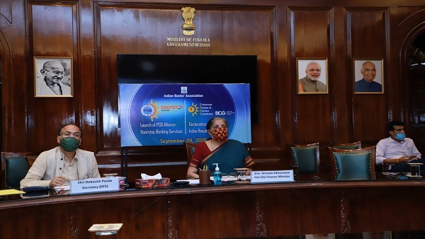 FM Launches Doorstep Banking Services By Public Sector Banks