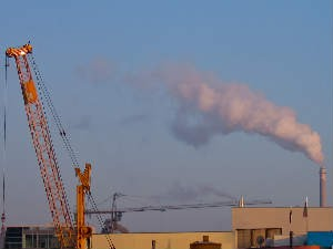 Polluting Company Outside Mega Industrial Town