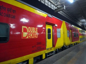 Railway Launch Double Decker Ac Trains With Large Screens