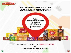Need Britannia Product Use Whatsapp Based Store Locator