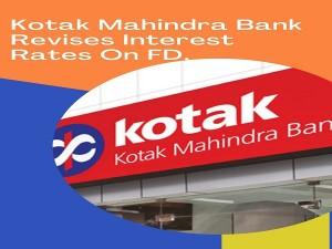 Kotak Mahindra Bank Revises Interest Rates On Fd Check New Rates Here