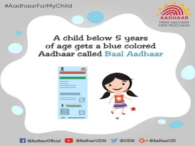 How To Apply For Bal Aadhaar For Child Aged Below 5 Years?